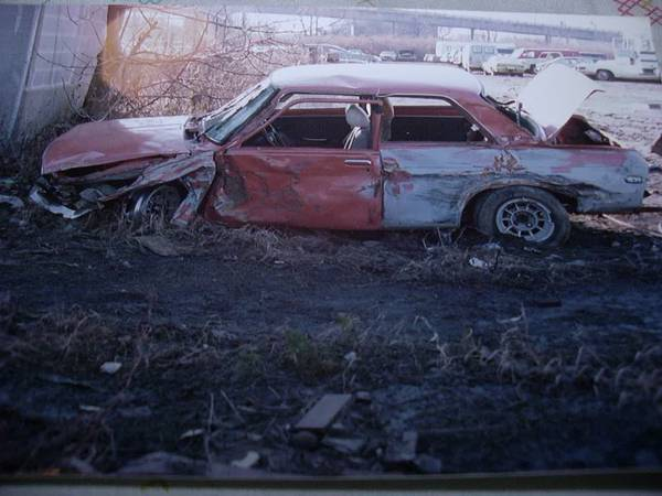 Datsun 510 crash