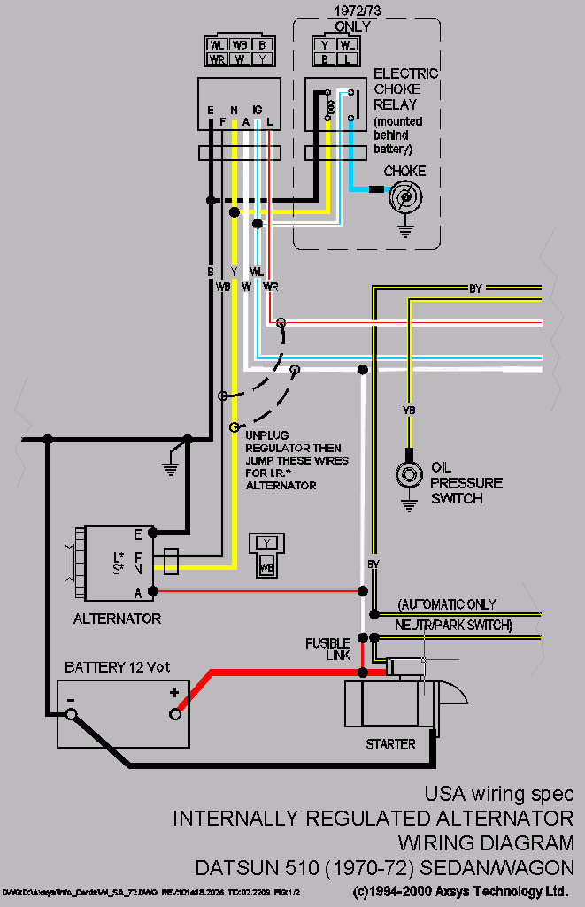 Surprising Datsun 510 Wiring Wiring Diagram Wiring Digital Resources Remcakbiperorg