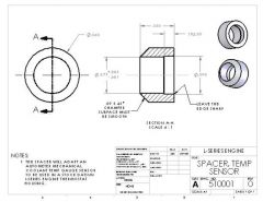 Temperature Sender Bushing Drawing