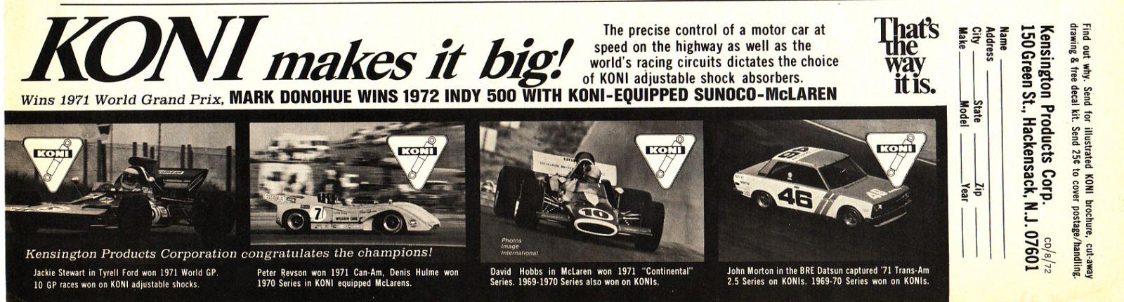 Koni Ad (Aug 72 Car and Driver)