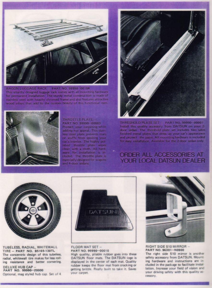 Datsun 510 Accessories for '72 (5 of 6)