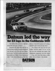 510 Pace Car- California 500, Ontario Motor Speedway