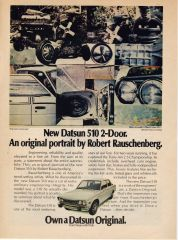 "Datsun ""Rauschenberg"" 510 Ad"