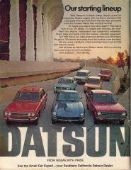 "Datsun ""Starting Lineup"" Ad"