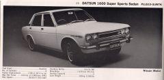 1970 Datsun 1600 SSS
