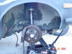 R.H. front brake suspension