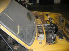 Engine backset