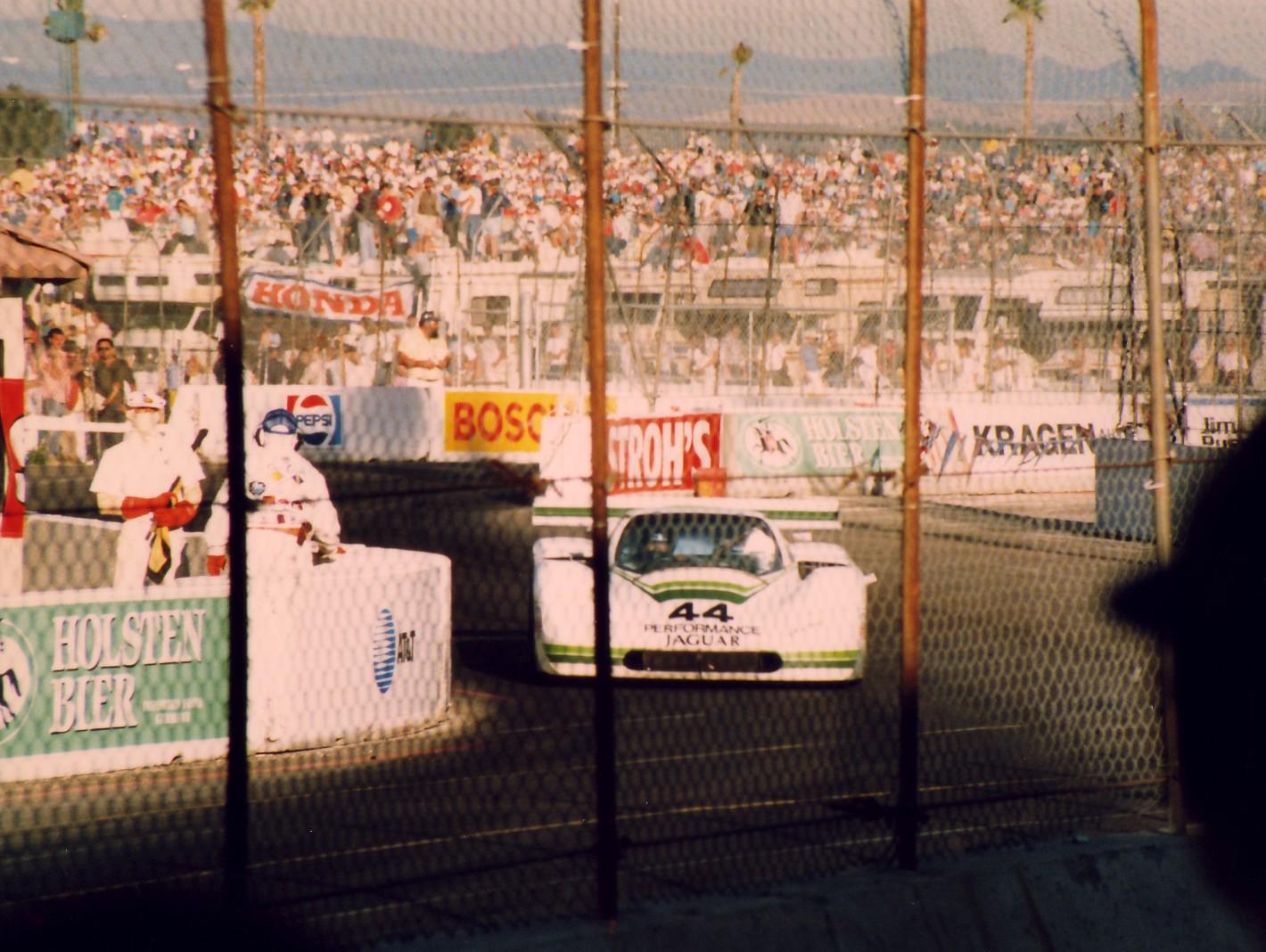 John pilots the Group 44 Jag at Del Mar, 1987