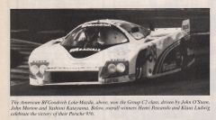 LeMans winner in Group C2