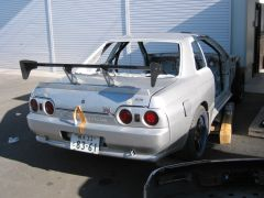 Skyline GT-R race car being built