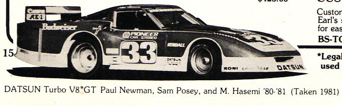 PLN, IMSA GTP V8 Turbo, 1981