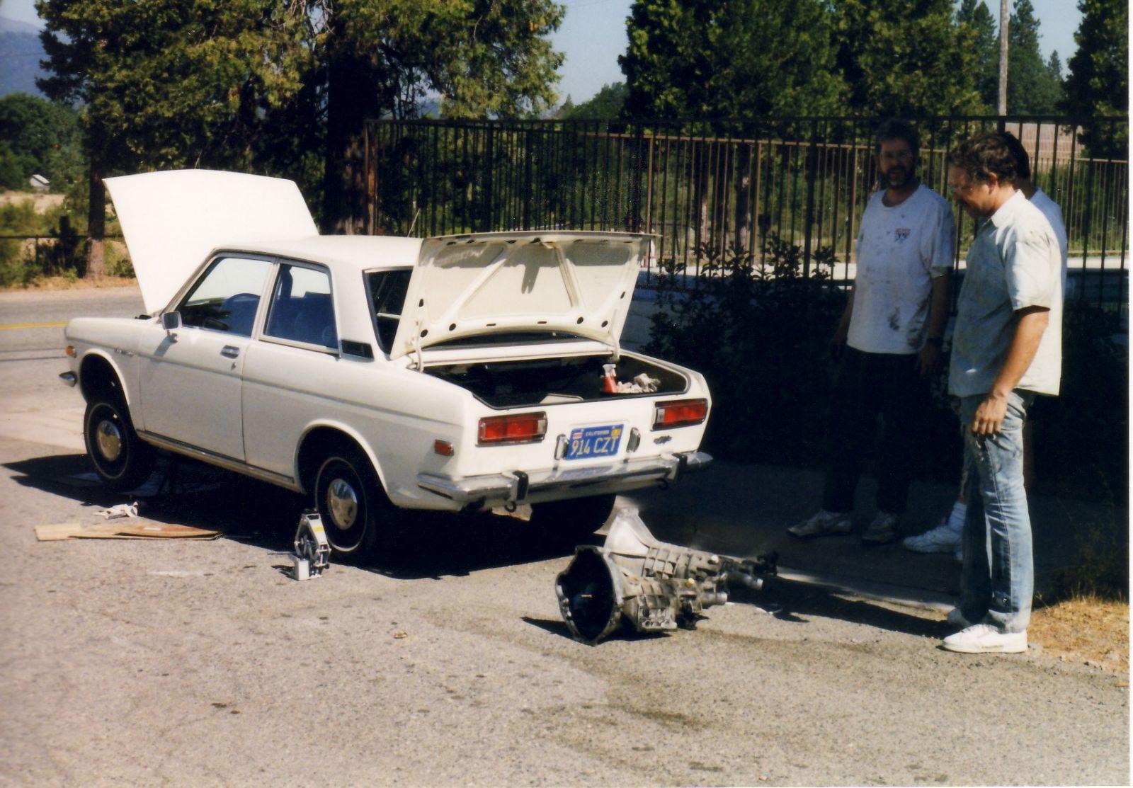 Shasta tranny R&R, 1999