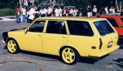 The Art of Brown's Yellow FJ Wagon