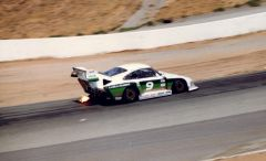 Porsche 935 entering Turn 6 at Riverside, '84 Times GP
