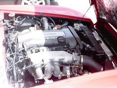 S14 sr powered roadster engine pass.