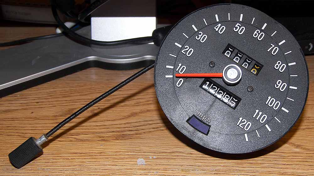 Speedometer with trip odometer...