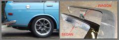 Sedan bumper vs Wagon bumper