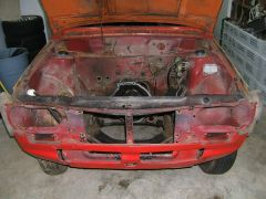 donko stripped for ministock racecar project