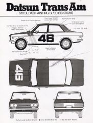 BRE Datsun Trans Am 510 Painting Specifications
