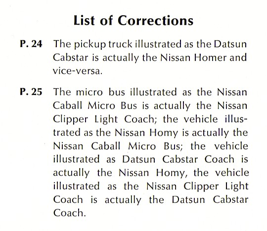 '69 Nissan Lineup