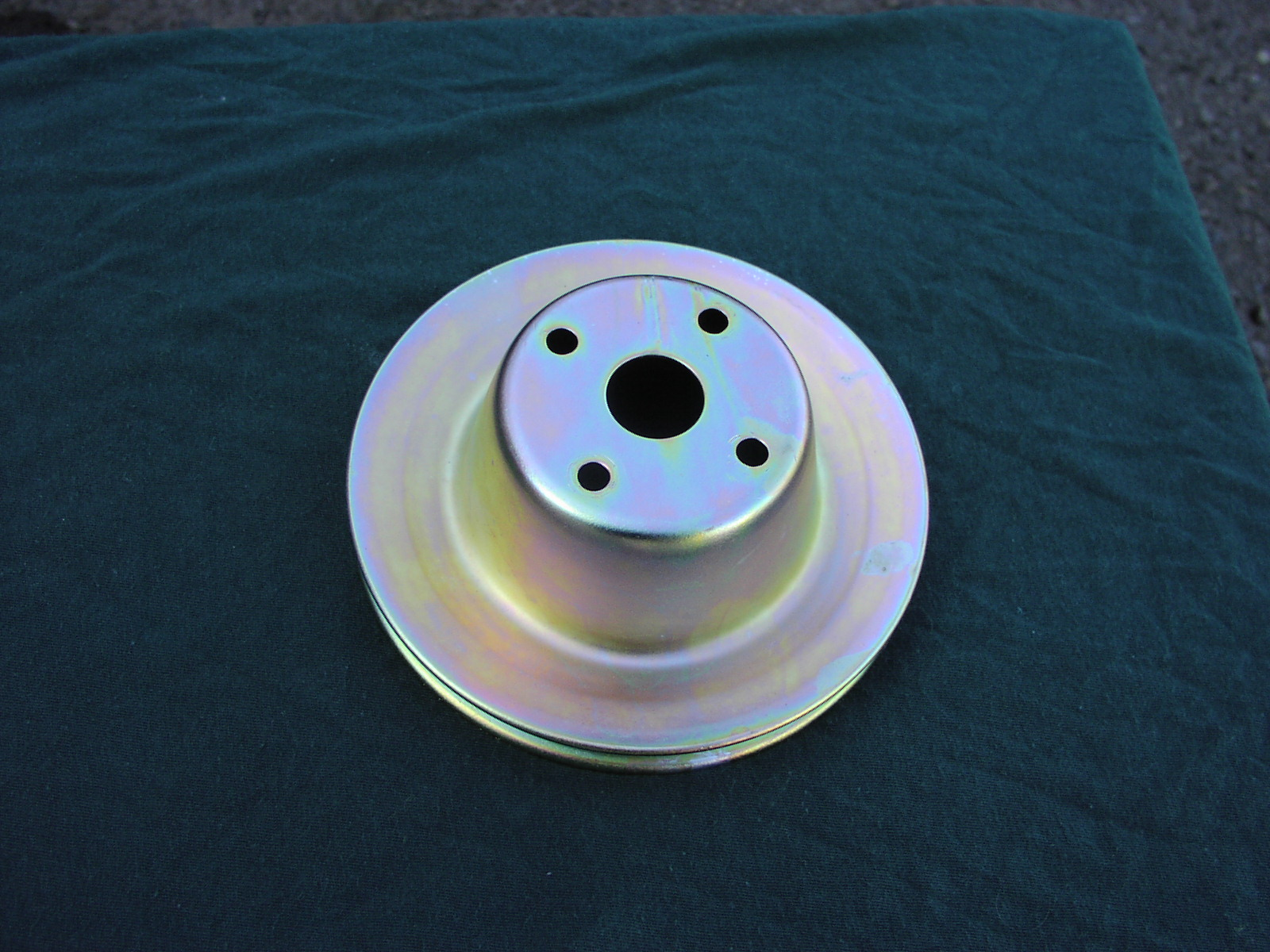 Plated water pump pulley