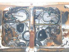 VQ35DE view through the radiator opening
