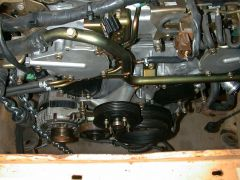 View of the Front of the motor looking down