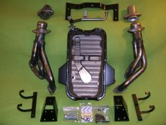 VG30 install kit with radiator brackets