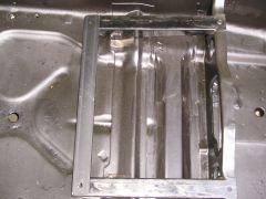 Rear Metal Bar added to stock seat bracket