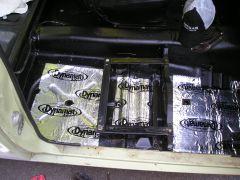 Dynamat Extreme, Zero Rust and modified seat bracket