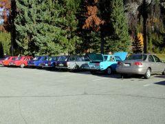 Manning Park Lodge parking lot 1.