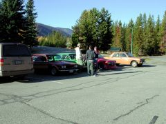 Manning Park Lodge parking lot 2.