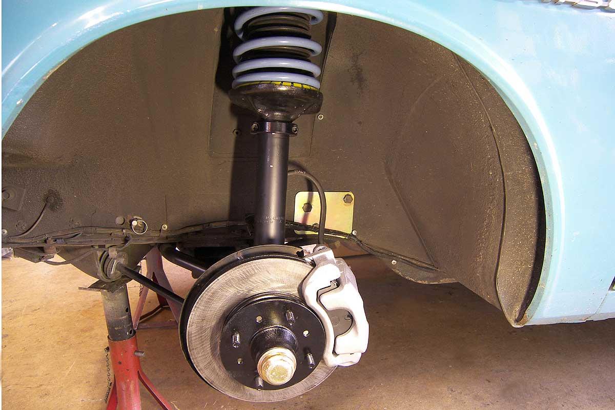 280ZX Strut assy with Whiteline progressive springs.