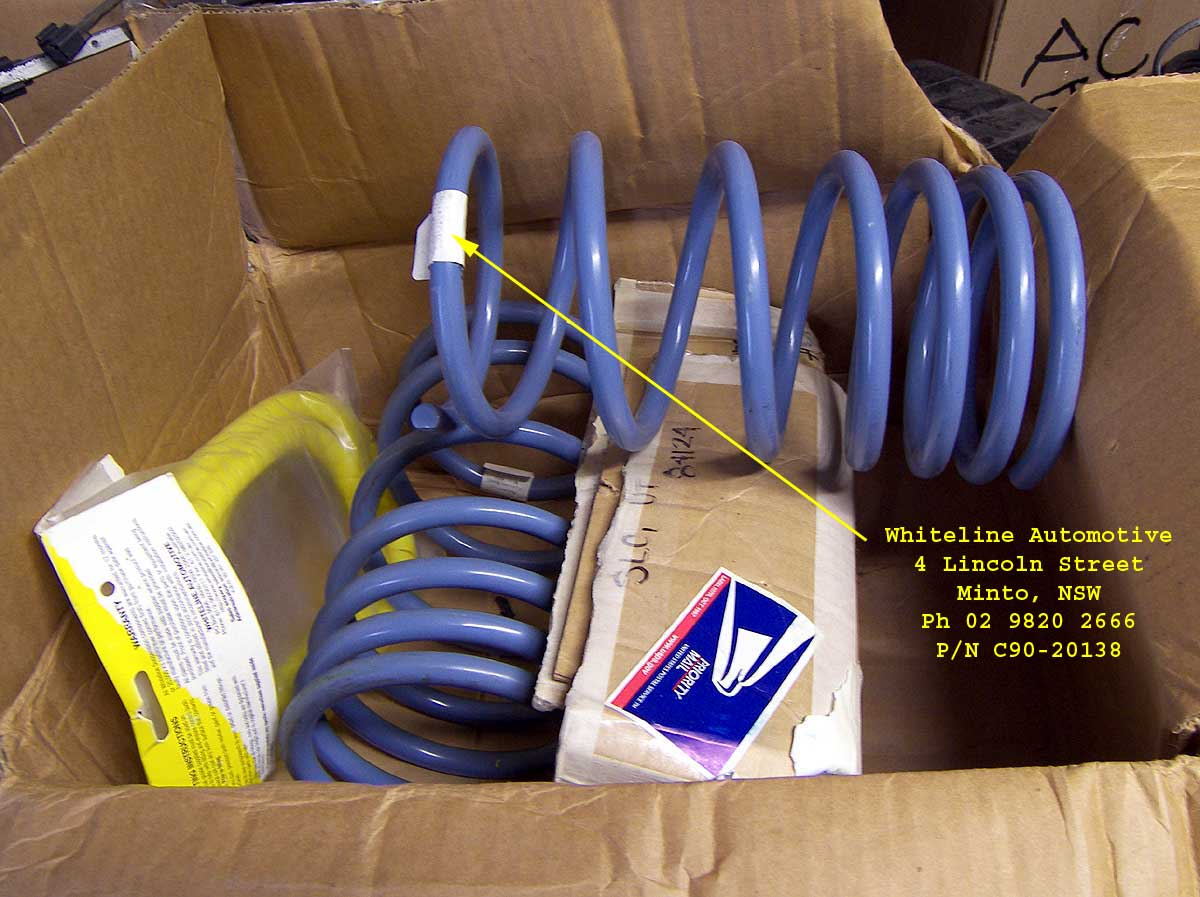 Whiteline Progressive Springs