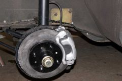 ZX Brake assembly.  DAMB steering plate in background