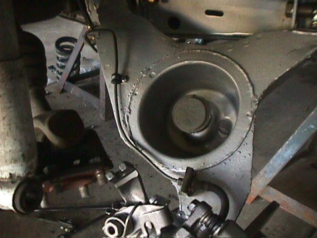 SX discs right brake line detail