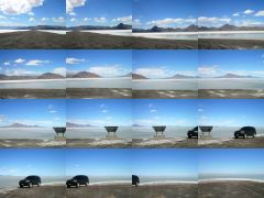 180 at the Bonneville Salt Flats cul de sac