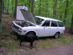 Nathan Marshall's Clean Wagon with super dog spooky in front