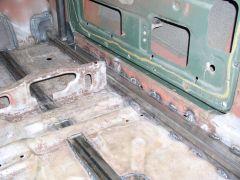 Dan Cook's Rally Car Cage - Floor and Rocker Reinforcing