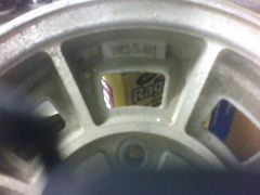 "Mystery Wheels 13x5 marked ""NISSAN"""