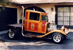 Hot Rod in driveway