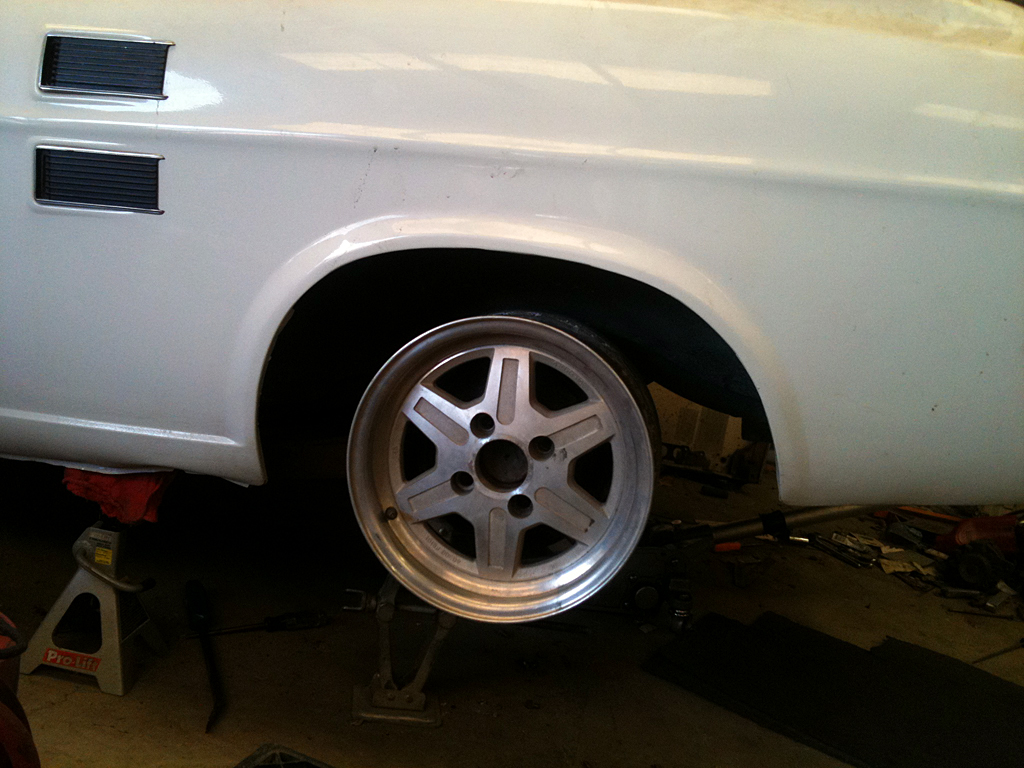 """14x6 test fit, lines up good in the """"hole""""..."""
