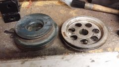 New pulley versus old