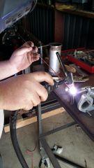 Throttle linkage welding