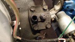 Refilling steering box