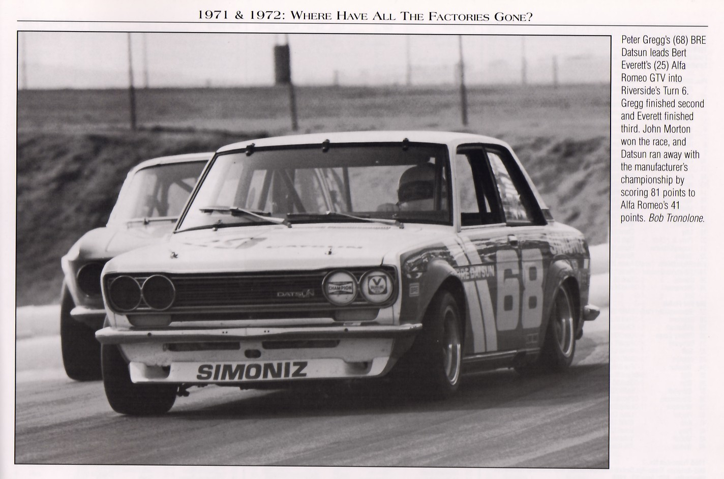Peter Gregg, Turn 6 at Riverside