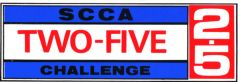 Original SCCA 2.5 Challenge window sticker