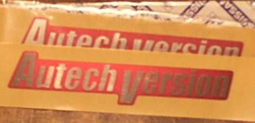 Autech Version Emblems