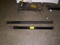 Driveshaft comparison.