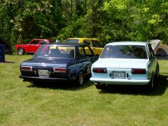 Left : Nestor's 2 door Right: Brian Osborn's Turbo Tom Car